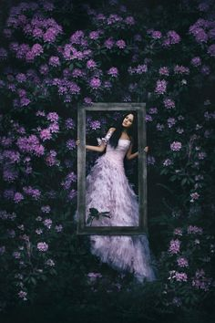 ❀ Flower Maiden Fantasy ❀ beautiful photography of women and flowers - framed in flowers