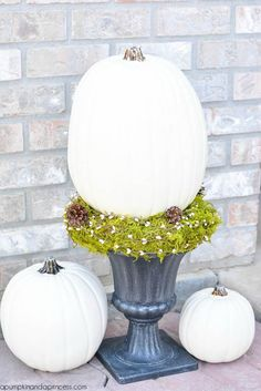<I'm a very lazy seasonal decorator...but I might just be able to handle this!!>  Front Porch Pumpkin Decor
