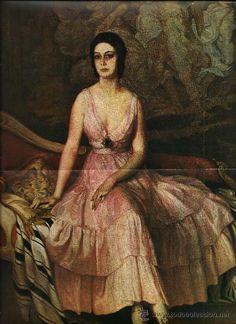 Arte español siglo XX. Julio Moises. retrato Condesa de Yebes.