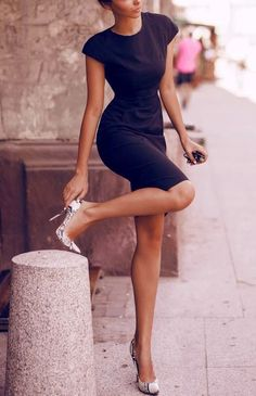 A little black dress with great heels always works! #fashion #shoes #style -♛ STYLE INSPIRATIONS♛