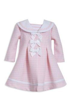 Bonnie Jean  Pink Houdstooth Coat  Dress Set
