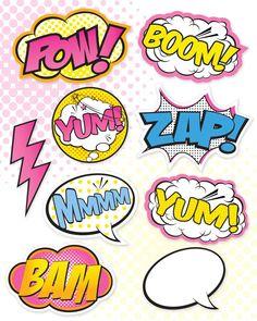 Superhero Girl Party Signs  Large Medium & Small / Super
