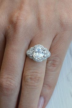 Three Stone Engagement Rings You Will Want ❤ See more: http://www.weddingforward.com/three-stone-engagement-rings/ #weddings
