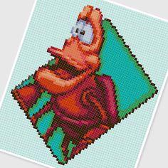 sandylandya@outlook.es  PDF Cross Stitch pattern 0256.Sebastian (Little Mermaid) by PDFcrossstitch
