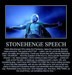 """The Stonehenge Speech from """"The Pandorica Opens"""".  One of the best Doctor Who monologues."""