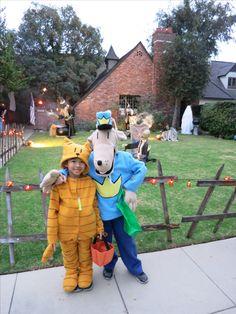 Dogman & Lil Petey DIY Halloween costumes (from Dav Pilkey books) Book Costumes, World Book Day Costumes, Book Character Costumes, Cat Costumes, Halloween Snacks, Halloween Kostüm, Diy Halloween Costumes, Costume Ideas, Book Character Day