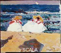 Sorolla y Bastida, Joaquin (1863-1923) Spiaggia di Valenza