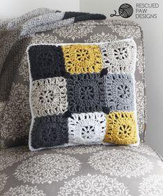 Pillow Crochet Pattern    FREE PATTERN    Rescued Paw Designs