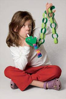 snake puppet craft for Chinese New Year! Year of the Snake