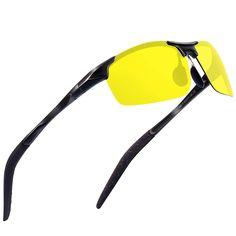 59cc87706c119 Sports Polarized Sunglasses for Men - Feirdio Mens Sports Glasses Metal  Frame Driving sunglasses 2266