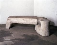 "thenoguchimuseum: ""Isamu Noguchi, Bench, Roman travertine, 1966 Positioned in the garden at The Noguchi Museum as ""useful sculpture""… Photo by Kevin Noble The Noguchi Museum "" Terracotta, Isamu Noguchi, Sculpture Art, Stone Sculpture, New Art, Decoration, Furniture Design, Museum, Japanese"
