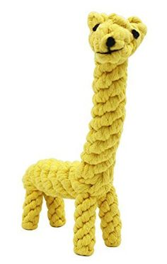 Outton Cotton Dental Teaser Pet Chew Rope Toys for Pet Puppy Dog Chew Teeth Biting Resistant Braided Cleanning Giraffe toy * Be sure to check out this awesome product.