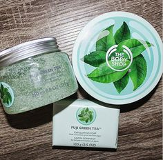 I've been loving @thebodyshopca's new Fuji Green Tea range! Such a calming, relaxing scent - Instagram user @lauraherchel
