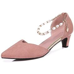 Women's High Heels Pumps Buckle Strap Pointy Toe Chic Shoes *** Details can be found by clicking on the image. (This is an affiliate link) #Pumps