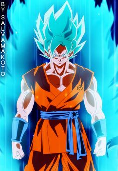 GOKU - Super Saiyan Blue by salvamakoto. Link provided by: @tzibert. Go check her ;Z board out to find other awesome Dragon Ball Z news, updates, and pictures! She's really cool!  **OldSchoolZ**