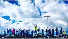 SALTANDO BIEN ALTO  Esta es la foto de Ula's crew del programa Alexandra College  para el concurso #GrupoBSCIC Os gusta? Son los mejores representantes de British Summer?
