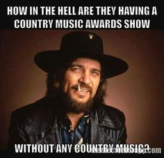 Waylon never cared for award shows..