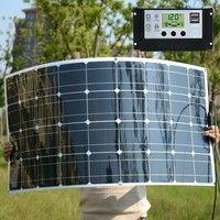 100w 36 Cells 20v Flexible Solar Panel With 20a Solar Controller Module Car Rv Boat 12v Solar Charger
