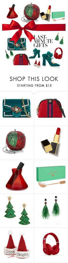 """""""#PolyPresents: Last-Minute Gifts"""" by natasha-chiu ❤ liked on Polyvore featuring Gucci, Judith Leiber, Tom Ford, Tom Dixon, Lizzie Fortunato, Rochas, contestentry and polyPresents"""