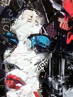 Collage Portrait, Collage Artwork, Derek Gores, Alchemy Art, Magazine Collage, Jr Art, Learn Art, Glitch Art, Arte Pop