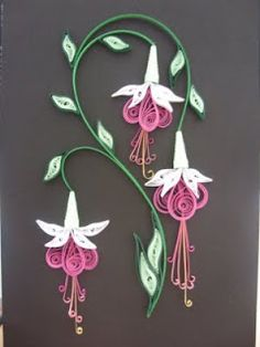 fuchsia-- quilling is a lot of work, but this is really pretty!