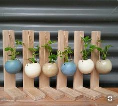 Great planter ideas would be good to recycle coconut she is part of Wood planters -