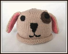 Boston Beanies Puppy Dog Hat Knit Cotton Baby Hat by BostonBeanies, $30.00