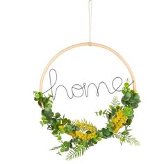 Word and Artificial Leaf Wreath Wall Art on Maisons du Monde. Take your pick from our furniture and accessories and be inspired! Mimosas, Door Plaques, Leaf Garland, Faux Plants, Handmade Home Decor, Unique Furniture, Plant Decor, Soft Furnishings, Seasonal Decor