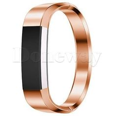 Stainless Steel Metal Watch Band Strap Bracelet Bangle Wristband For Fitbit Alta rose gold