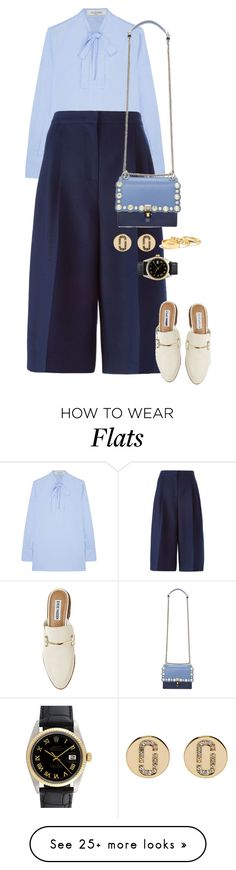 """""""Untitled #14007"""" by bappple on Polyvore featuring Valentino, Fendi, Marc Jacobs, J.Crew, Rolex and Steve Madden"""