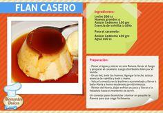 ¡Nada más rico que disfrutar un Flan casero! Preparalo y acompañalo con crema, dulce de leche o helado. #Recetas