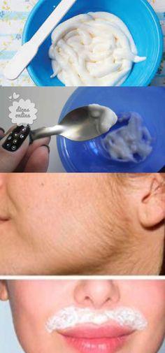 Creme depilatório fácil de fazer em casa – É possível eliminar os pelos e deixar a pele ainda mais clara utilizando esse creme depilatório  #creme #depilação #beleza #dicas