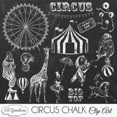 Check out CIRCUS CHALK CLIPART by Artfanaticus on Creative Market