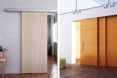 What are the important information before fitting a sliding door?