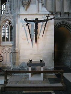 """Reblog from mediumaevum.tumblr.com: """"The most popular shrine in England was the tomb of Thomas Becket at Canterbury Cathedral. When Becket was murdered local people managed to obtain pieces of cloth soaked in his blood. Rumours soon spread that, when touched by this cloth, people were cured of blindness/ epilepsy and leprosy. It was not long before the monks at Canterbury Cathedral were selling small glass bottles of Becket's blood to visiting pilgrims."""""""