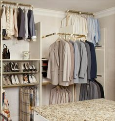 Pull-down closet rods  Handicap accessable