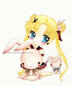 Usagi and bunnies by tho-be.deviantart.com