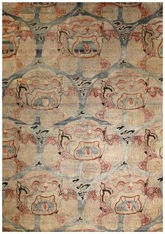 Materials: Hand knotted in India with silk and oxidized wool. Lead time: One of a kind, in stock. Transitional Rugs, Silk Road, Carpet Design, Vintage World Maps, Area Rugs, Wool, Carpets, Collection, San Carlos