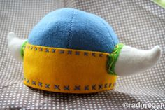 radmegan: in words and pictures: Felt Viking Cap and Booties for Baby (My Baby!)