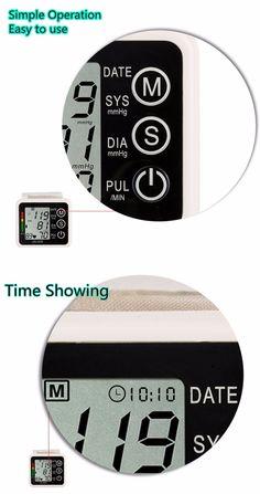 LCD Intellisense Electronic  Blood Pressure Monitor Loud Voice Digital Wrist Sphygmomanometer