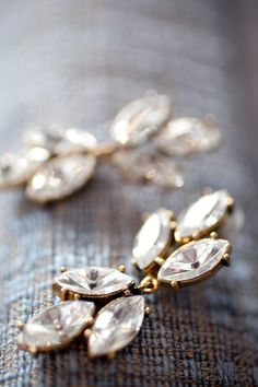 So gorgeous! Earrings by Badgley Mischka via Henri Bendel / Photography by allanzepeda.com