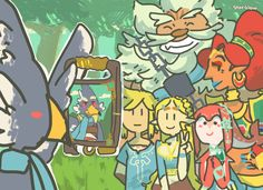 Lol Revali is taking a selfie that is so like him