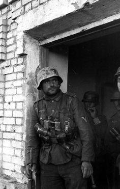 Soldado alemán en Stalingrado.