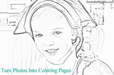Turn Your Picture Into A Coloring Page