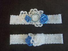 Lace Garter Set  Something Blue by BijouxBridalChicago on Etsy, $48.00