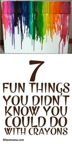 7 Fun Things You Didn't Know You Could Do With Crayons