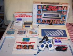 Tomy Tutor Computer with Accessories (1983).