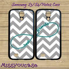 Samsung galaxy S4,Samsung galaxy S3,Samsung Galaxy Note2 Case,cute Samsung S3 Case,cute Samsung S4 Case,Grey Chevron,best friends case. by Missyoucase, $28.95