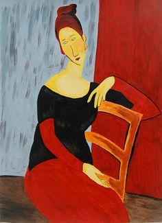 Portrait  of Jeanne Hebuterne - após Amedeo Modigliani