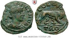 RITTER Troas, Alexandria, Valerianus I., Tyche, Lupa Romana, Romulus, Remus #coins